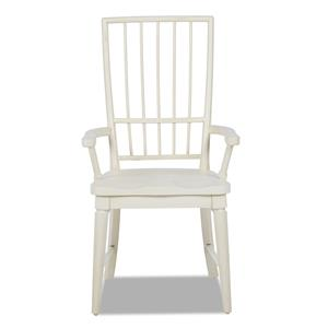 Easton Collection Sea Breeze White Rake Back Arm Chair