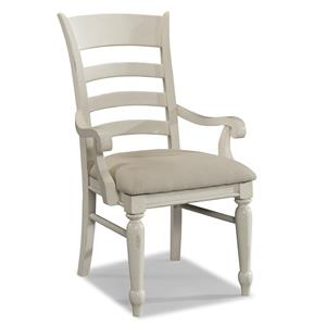 Carolina Preserves by Klaussner Sea Breeze Special Order White Ladder Back Arm Chair