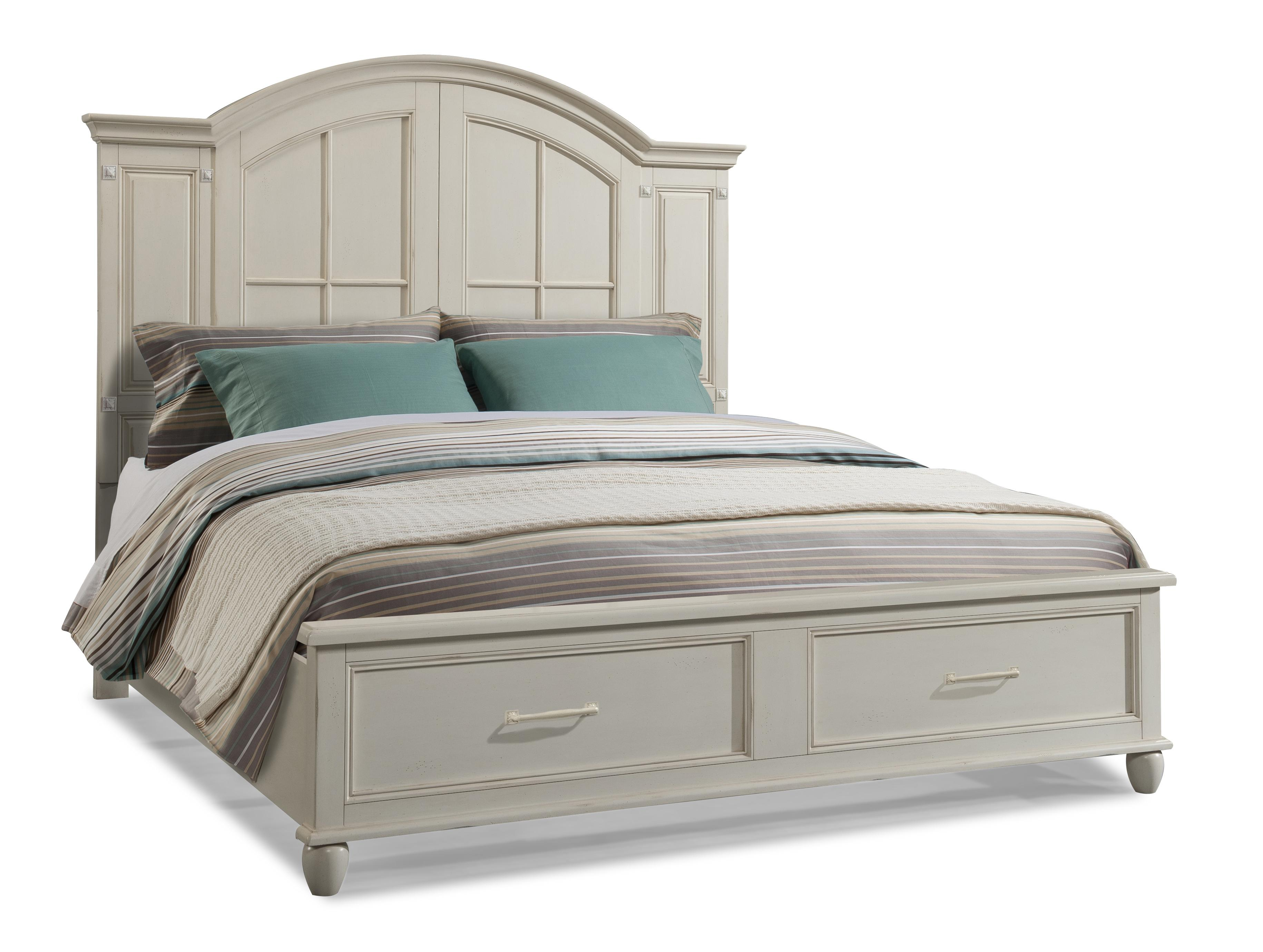 Easton Collection Sea Breeze Island Bliss-White Queen Panel Storage Bed - Item Number: 425-150 QBED