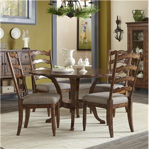 Carolina Preserves by Klaussner Southern Pines Round Table and Side Chairs Set