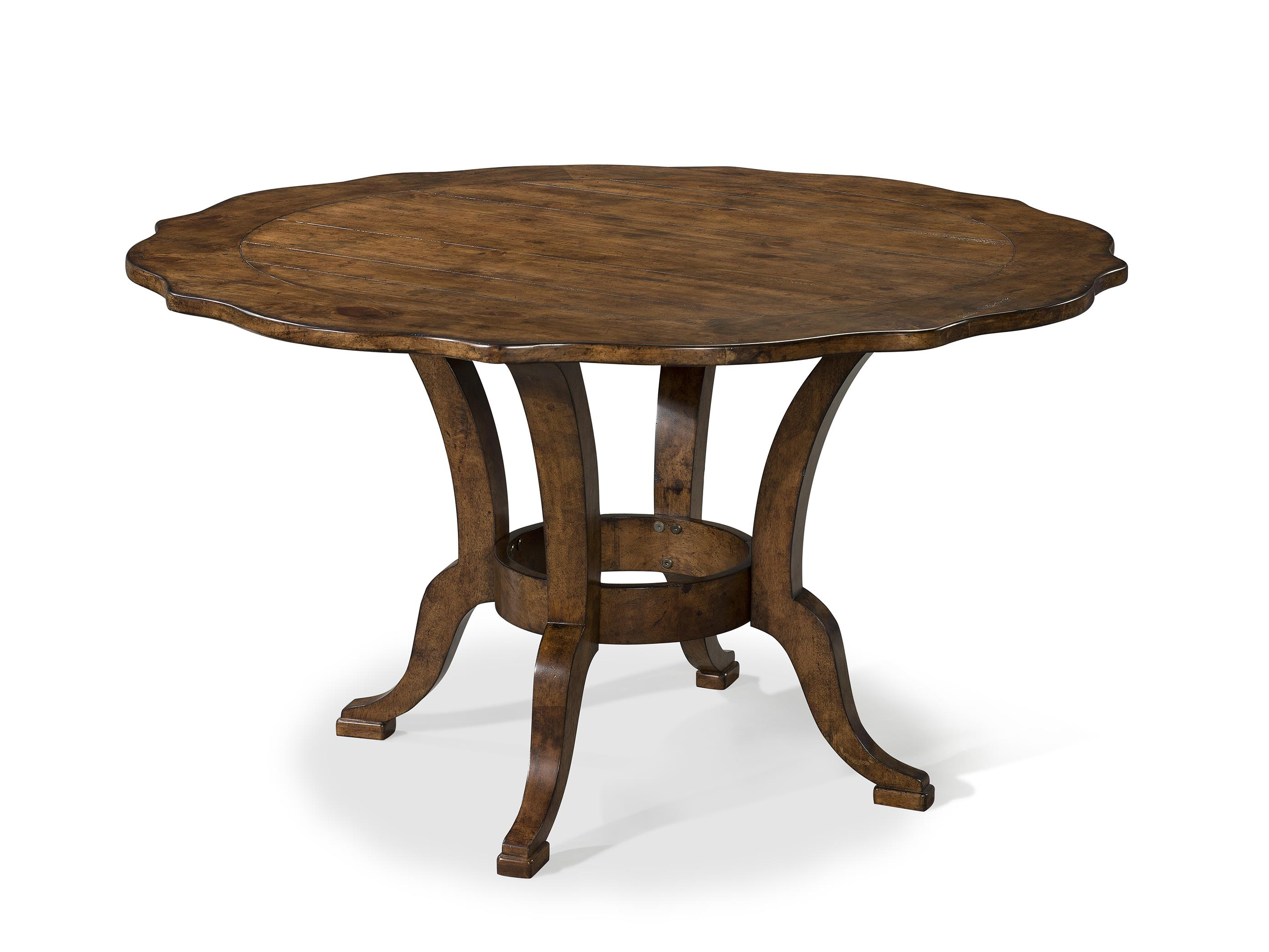 Easton Collection Farmhouse 54 Inch Round Dining Table - Item Number: 436-054 DRT