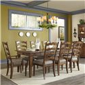 Carolina Preserves by Klaussner Southern Pines Dining Table and Chairs Set - Item Number: 436-086 DRT+2x905 DRC+6x900 DRC