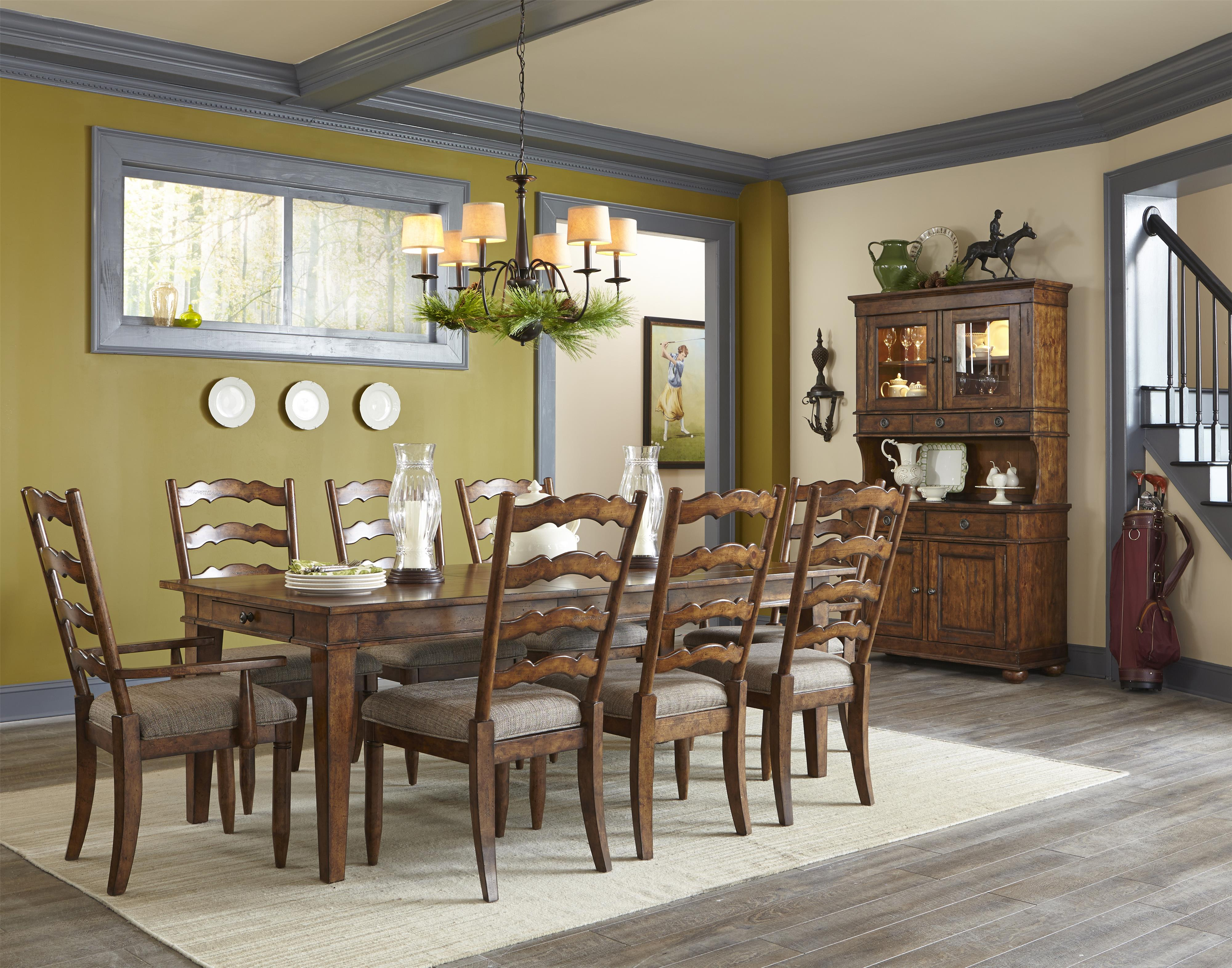 Carolina preserves by klaussner southern pines dining room table with 14 inch leaf hudson 39 s - Carolina dining room ...