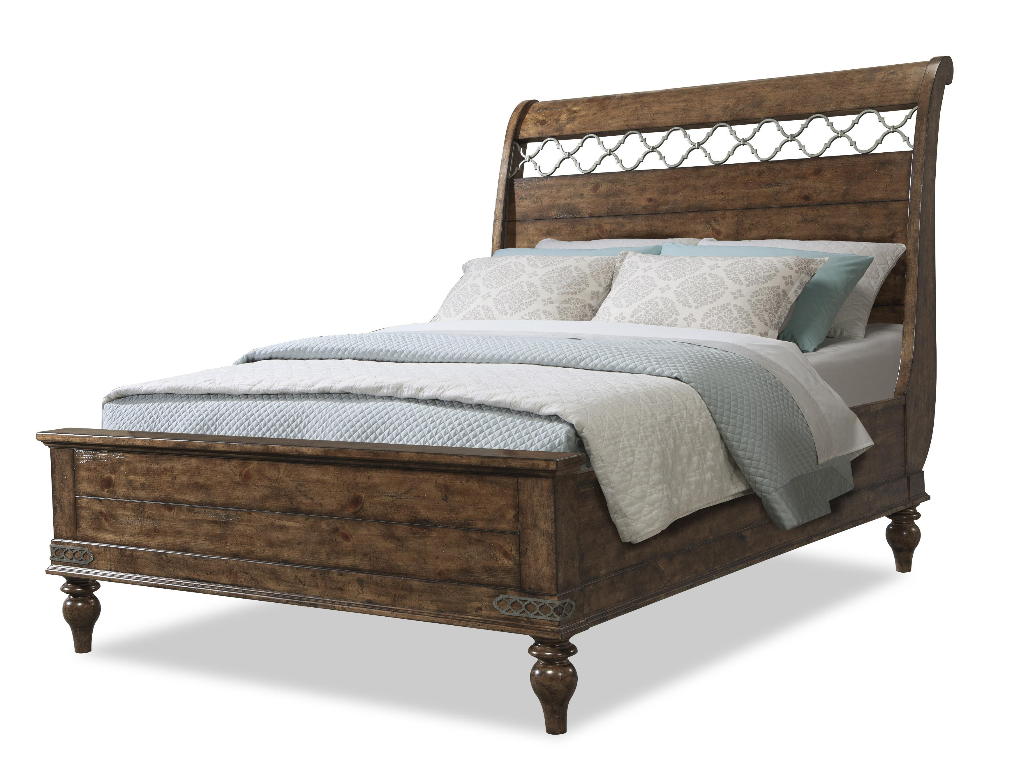 Easton Collection Farmhouse Whispering Pines Queen Sleigh Bed - Item Number: 436-250 QBED