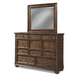 Carolina Preserves by Klaussner Southern Pines Dresser and Mirror Set