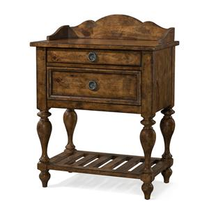 Carolina Preserves by Klaussner Southern Pines Two Drawer Leg Nightstand