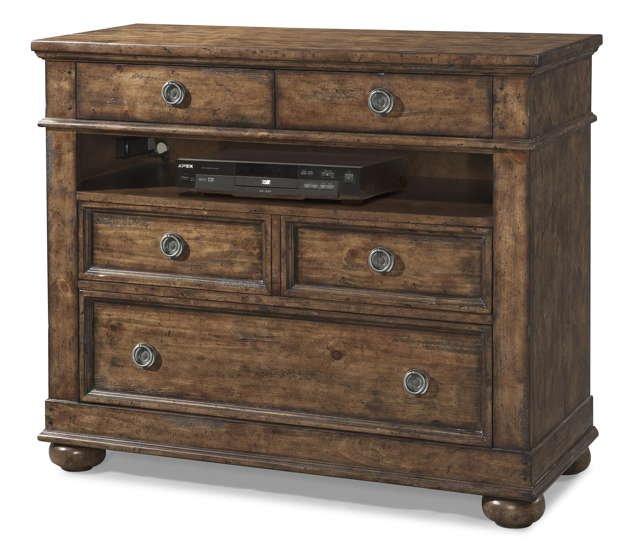 Easton Collection Farmhouse Bluff Media 4 Drawer Chest - Item Number: 436-682 MCHES