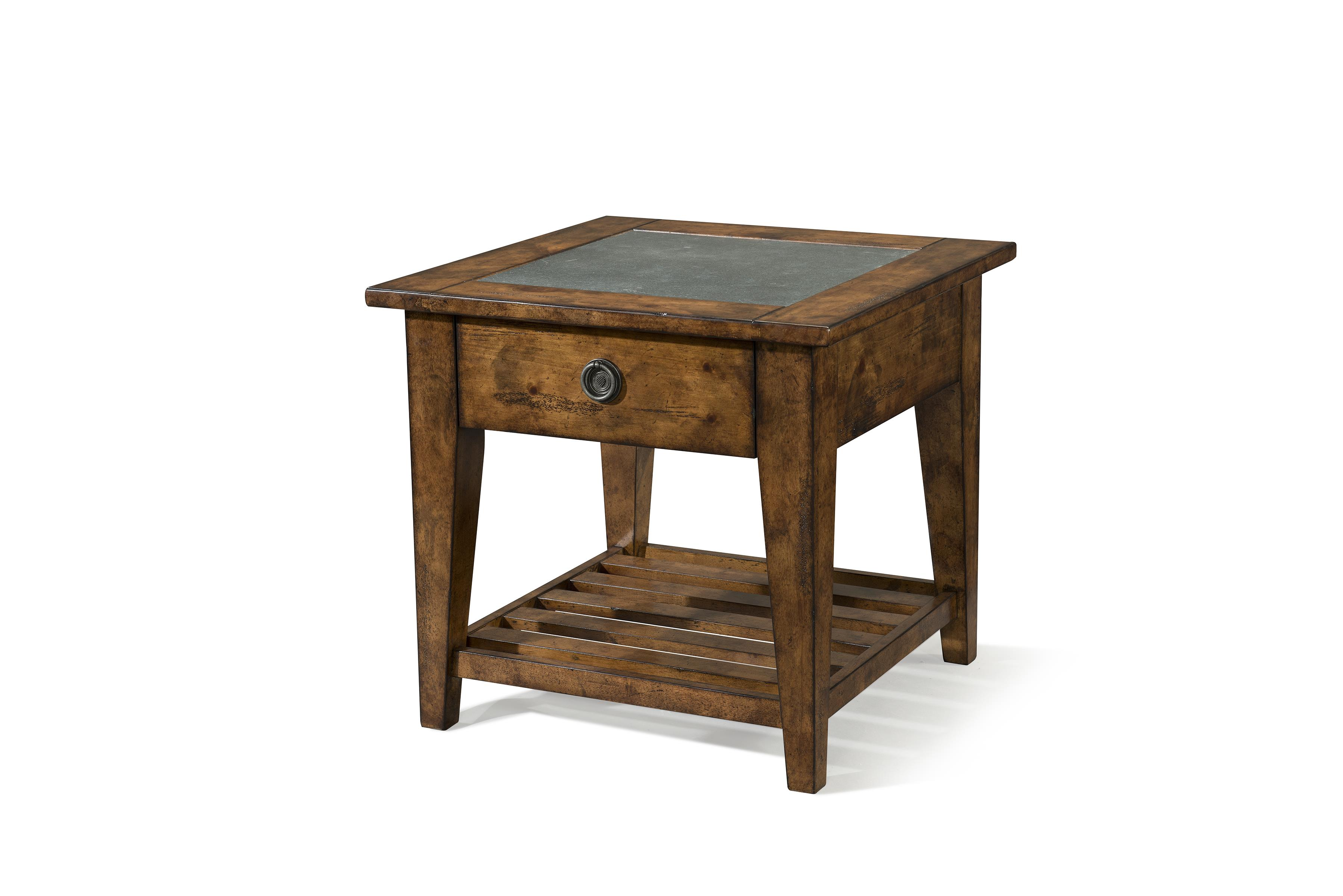 Easton Collection Farmhouse Dogleg Lamp Table - Item Number: 436-816 ETBL