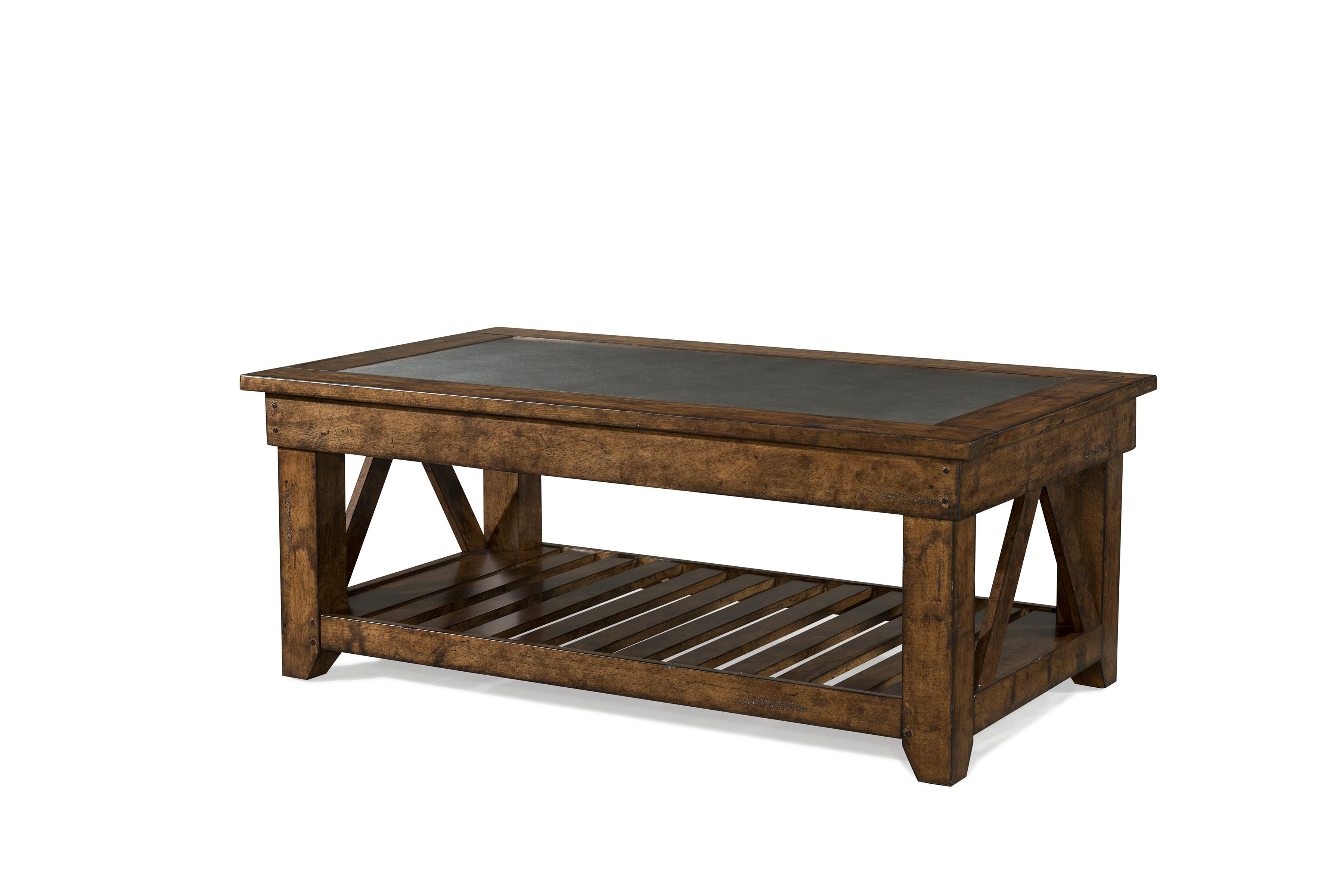 Easton Collection Farmhouse Legacy Rectangular Cocktail Table - Item Number: 436-819 CTBL
