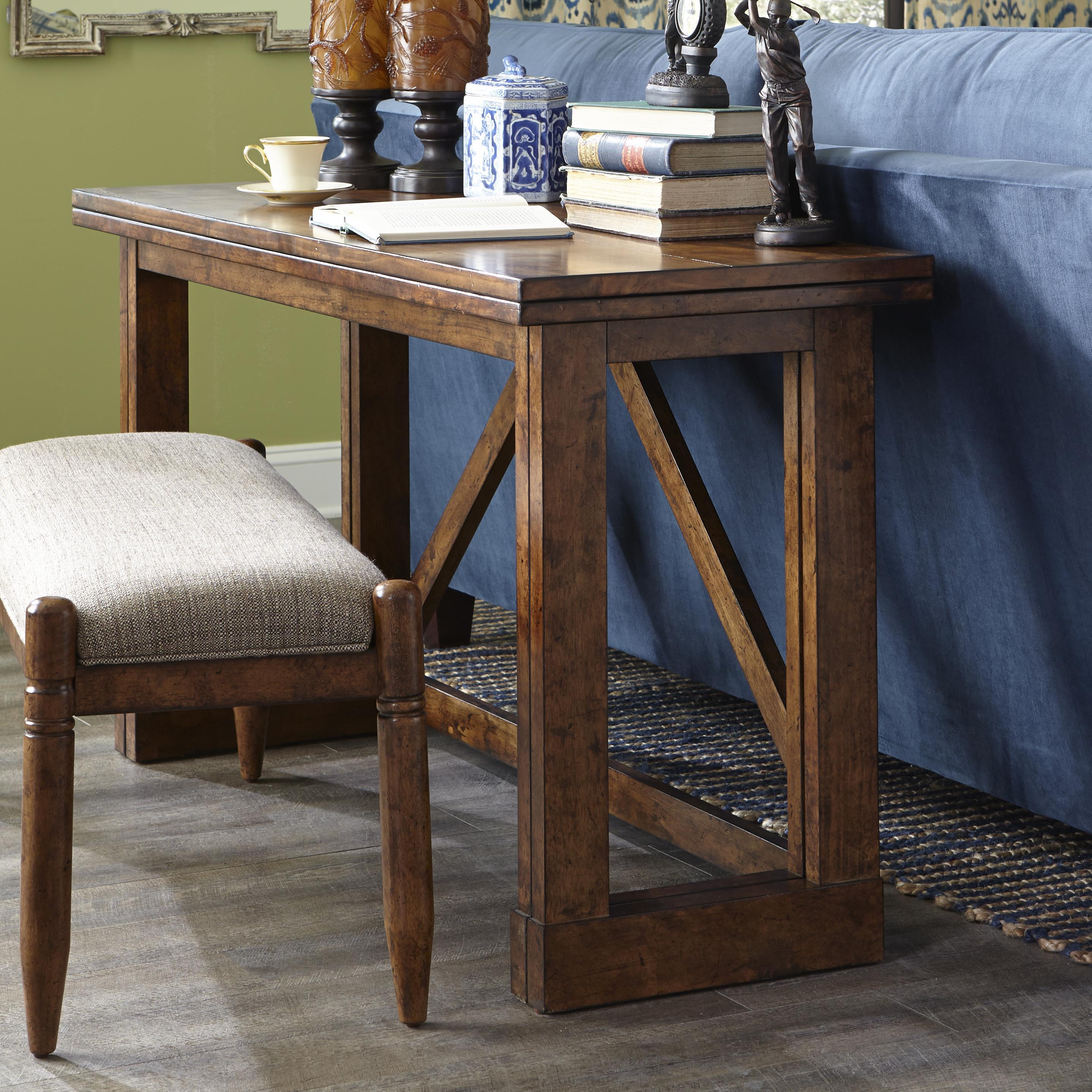 Easton Collection Farmhouse Gate Leg Sofa Table - Item Number: 436-825 STBL