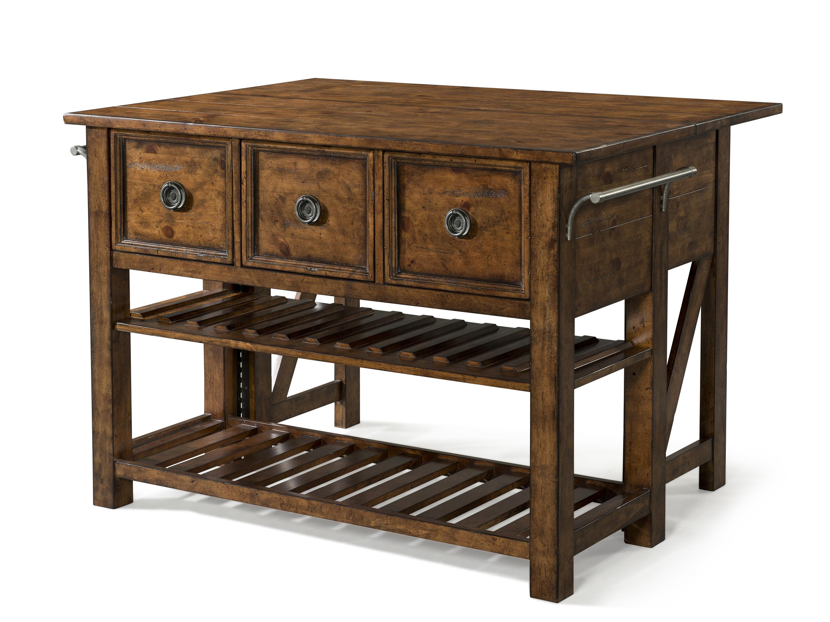 Easton Collection Farmhouse Loblolly Kitchen Island - Item Number: 436-885 ISLAN