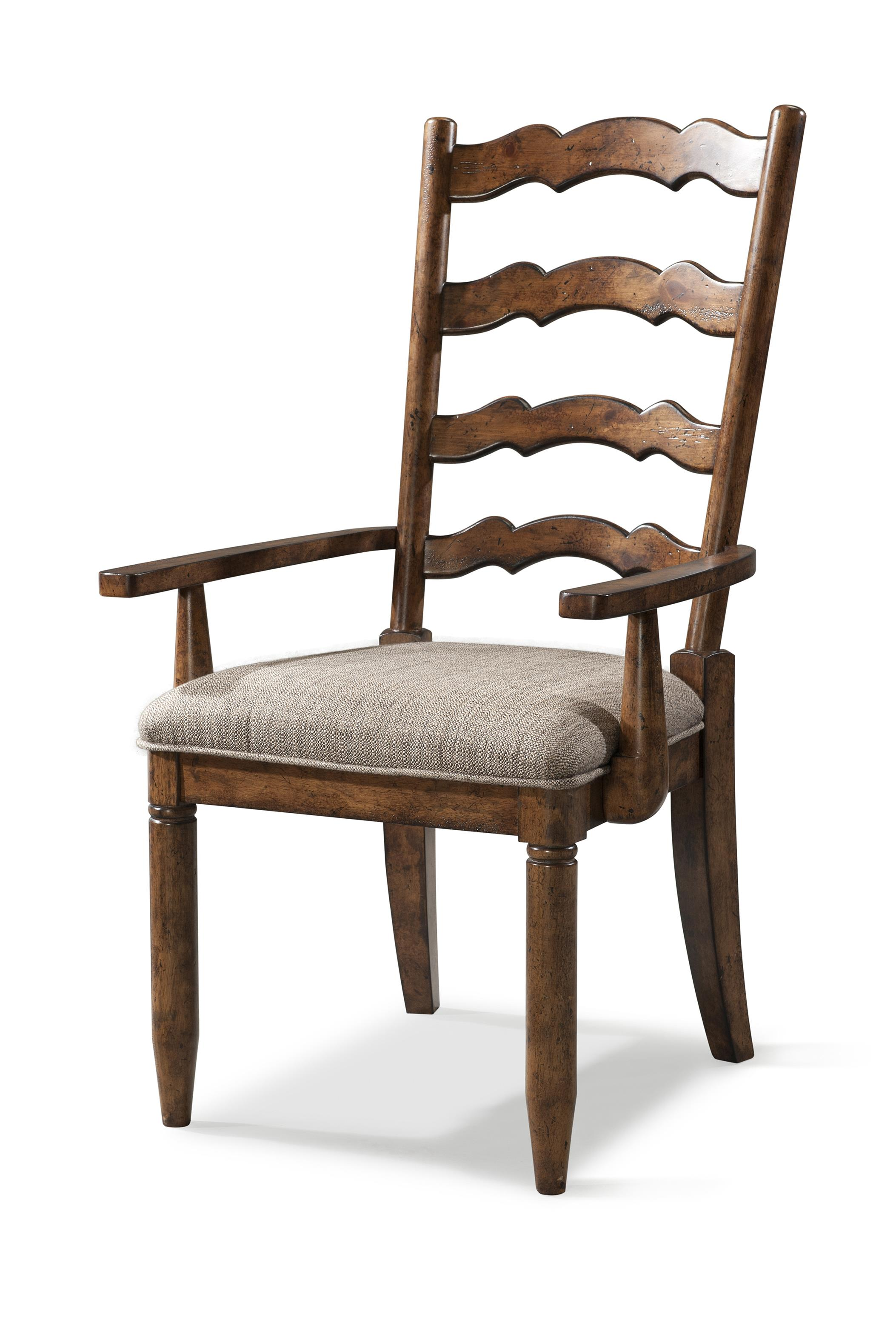 Easton Collection Farmhouse Ladderback Arm Chair - Item Number: 436-905 DRC