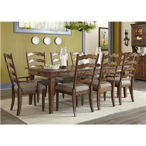 Carolina Preserves by Klaussner Southern Pines Dining Table, 4 Side Chairs & 2 Arm Chairs