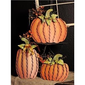 Round Top Halloween Decor Small Pumpkin