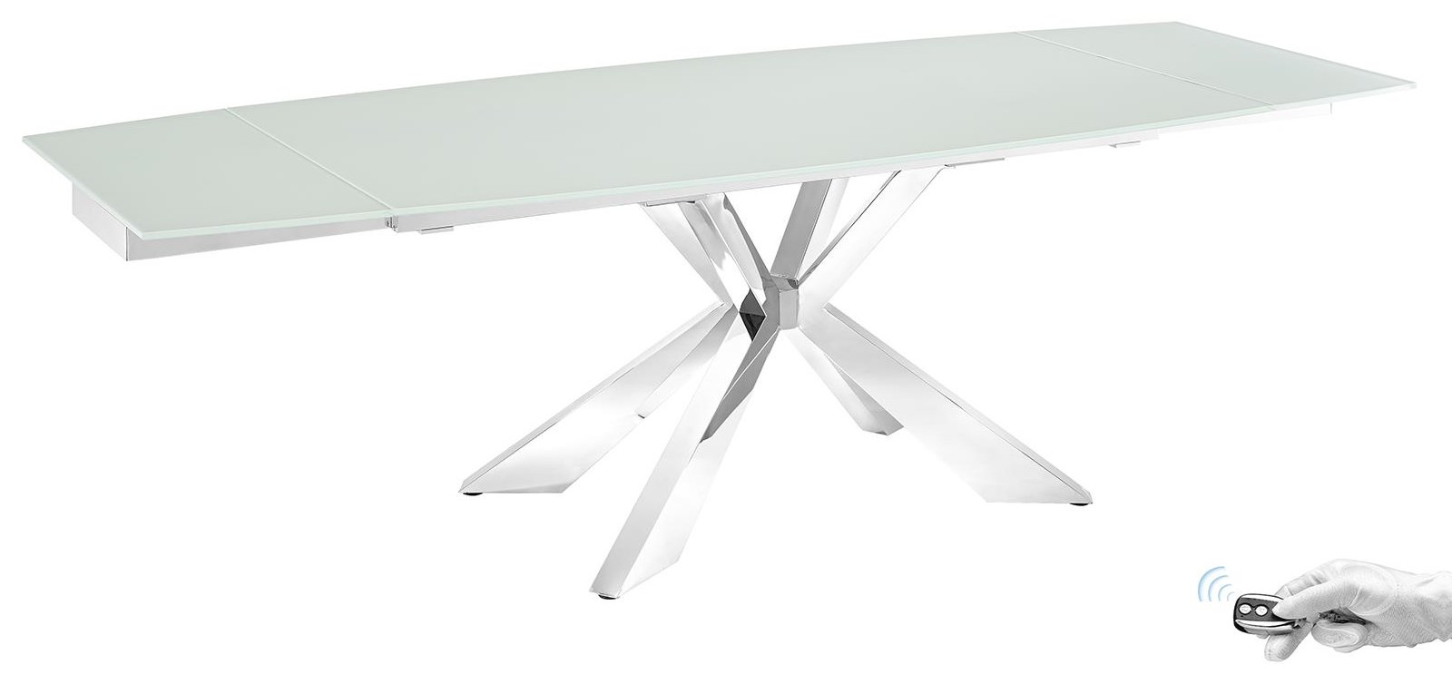 Icon Motorized Glass Extension Table Icon Motorized Glass Extension Table by Casabianca at Baer's Furniture