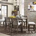 Belfort Select District 7 Piece Counter Height Dining Set - Item Number: 237-160+4x140+2x142