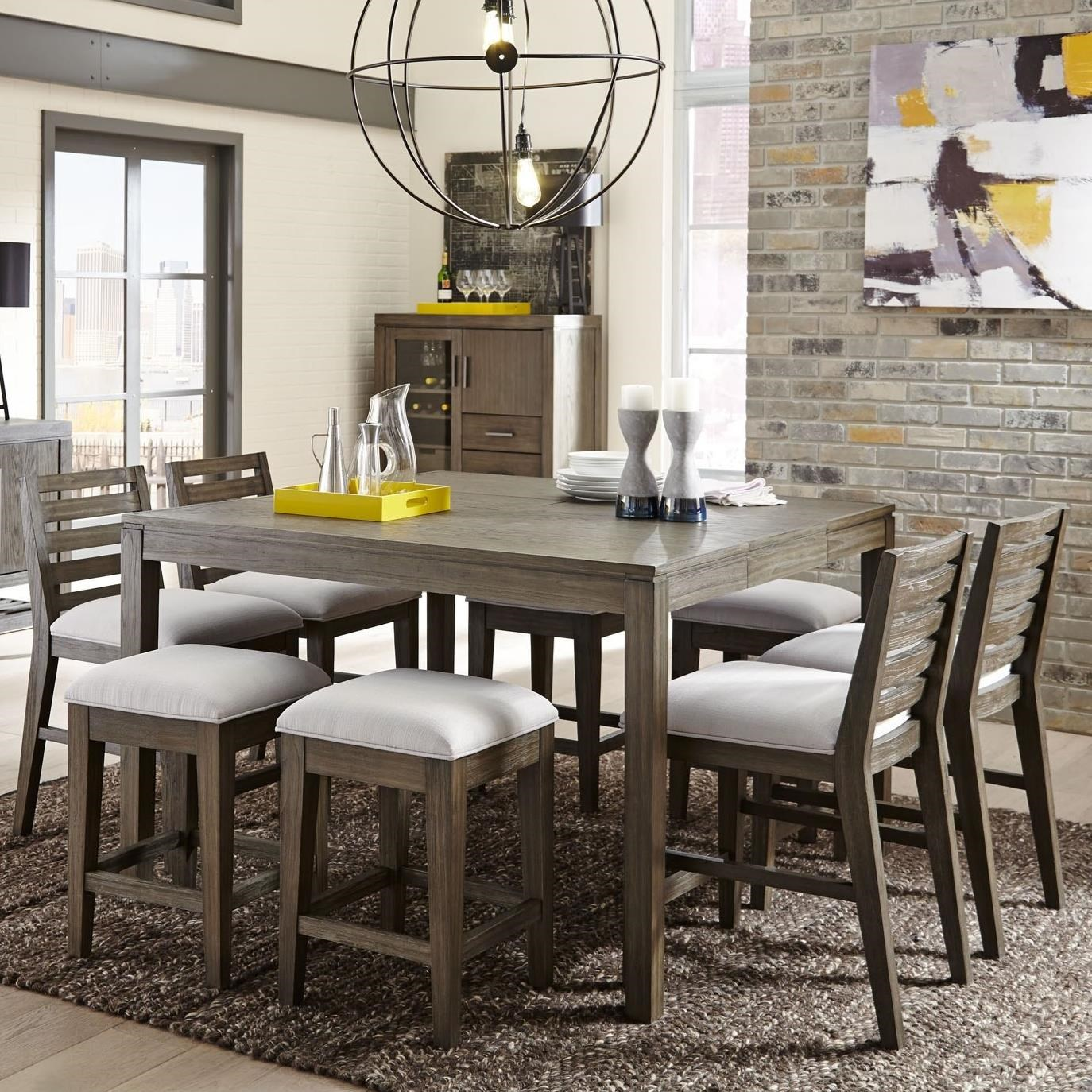 9 piece counter height dining room sets belfort select district 9 counter height dining set 9159