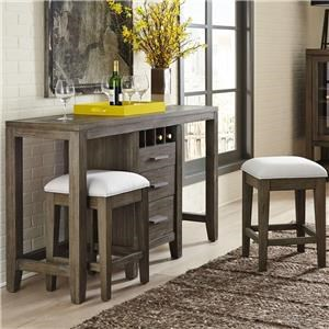 Multifunctional Console and Stools Set