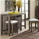 Belfort Select District Multifunctional Console and Stools Set - Item Number: 237-197