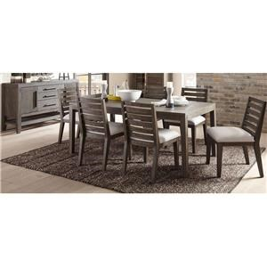 Belfort Select District Table, 6 Chairs, Sideboard