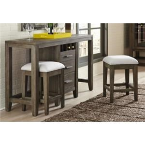Brookdale 3 Piece Console with Stools