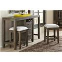 Morris Home Furnishings Brookdale Brookdale 3 Piece Console with Stools - Item Number: 636763893