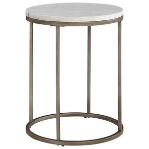 Casana Julien Round Marble End Table