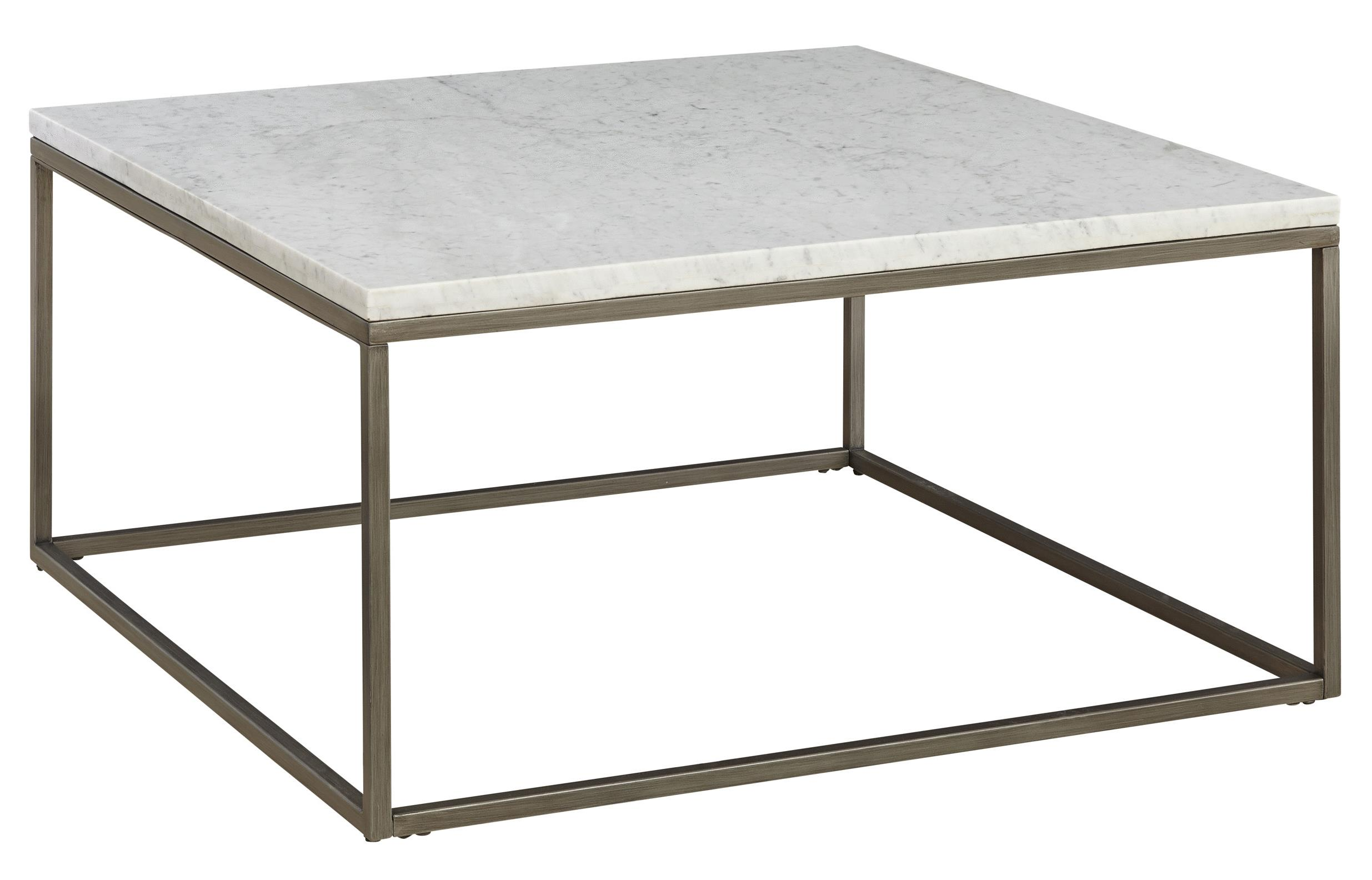 Square Metal Cocktail Base & Marble Top