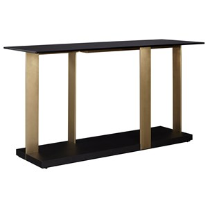 Casana Lombard Glass Top Console Table