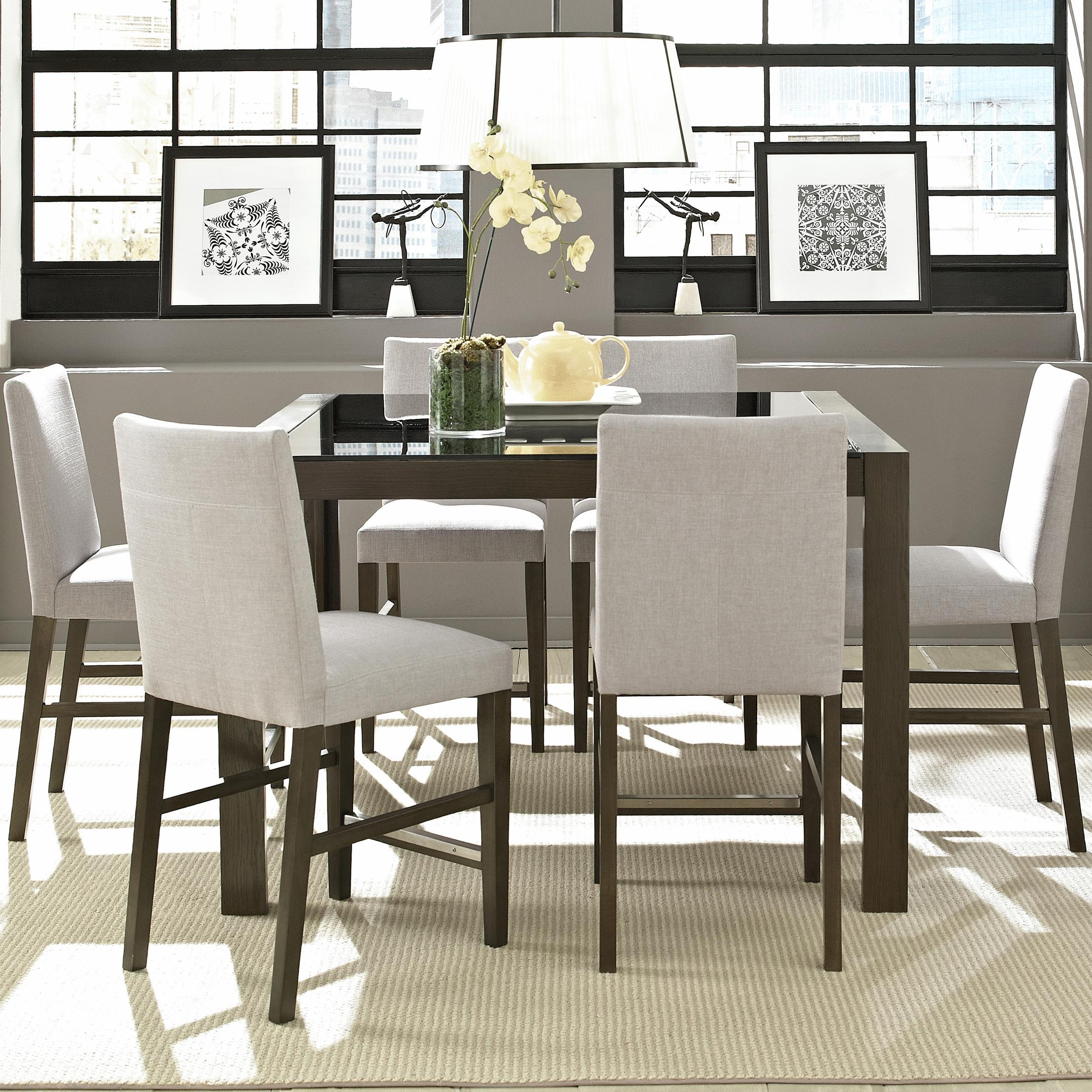 Belfort Select Modera Cafe Table and Chair Set - Item Number: 525-161+160+6x525-140