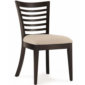 Belfort Select East Gate Open Slat Back Side Chair