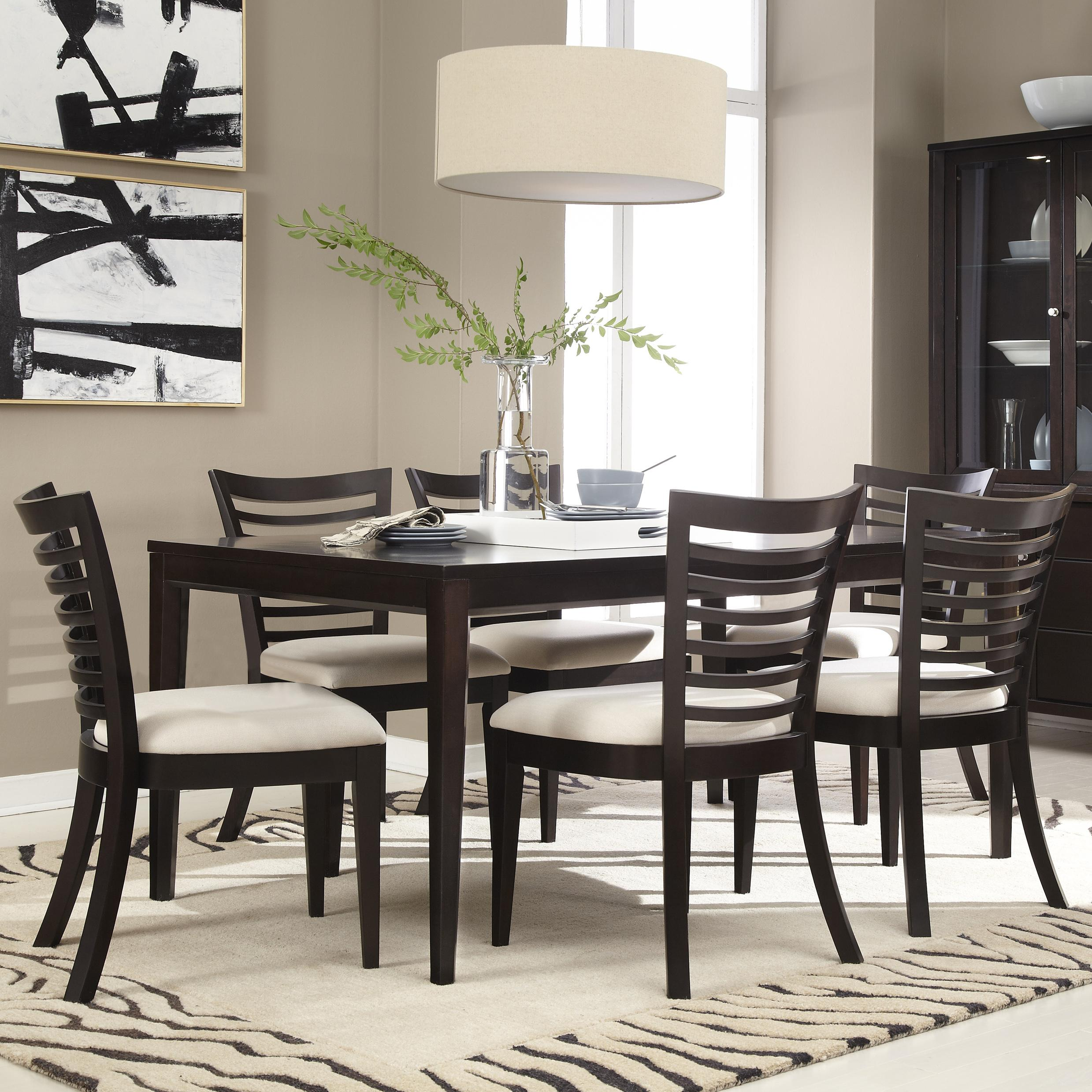 Belfort Select East Gate 7-Pc. Table and Chair Set - Item Number: 355-150+6x120