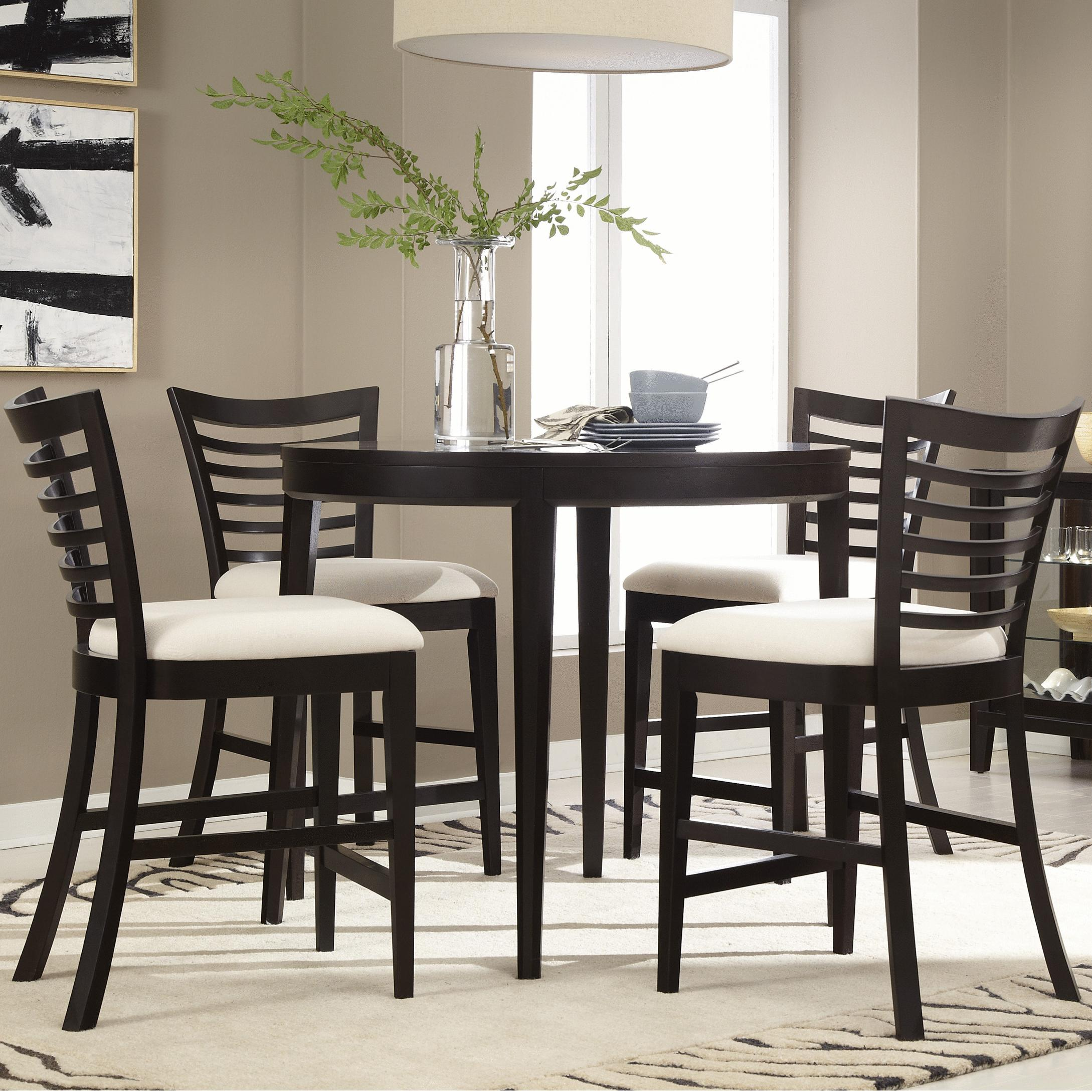 Belfort Select East Gate 5-Pc. Cafe Table and Chairs - Item Number: 355-160+4x140