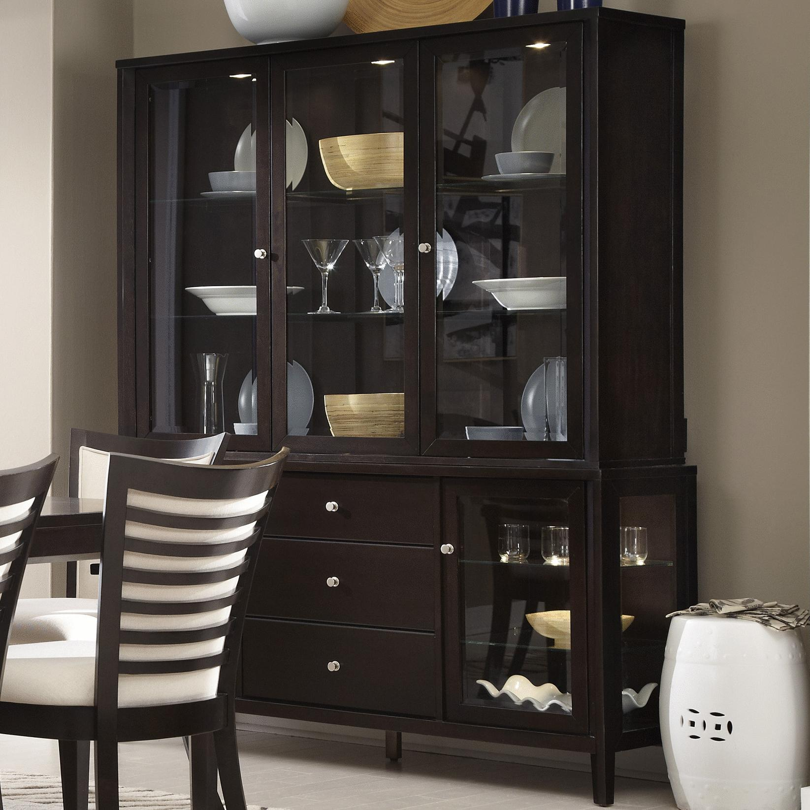 Belfort Select East Gate Large Buffet and Hutch - Item Number: 355-177+189