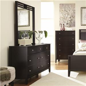 Belfort Select East Gate Dresser, 7 Dwr. & Mirror