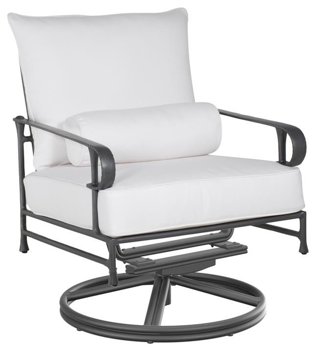 Bordeaux Highback Swivel Lounge Chair by Castelle by Pride Family Brands at Johnny Janosik