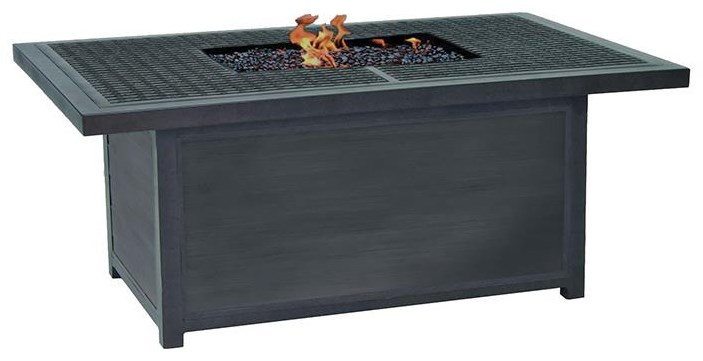 Bordeaux 52 inch X 36 inch Altra Rectagular Fire Pit by Castelle by Pride Family Brands at Johnny Janosik