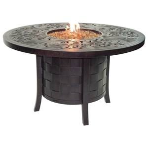 "49"" Round Dining Table with Firepit"