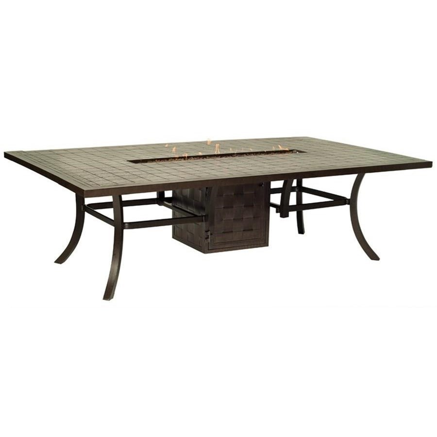 """Classical Firepits 64"""" x 96"""" Rectangular Dining Table by Castelle by Pride Family Brands at Baer's Furniture"""