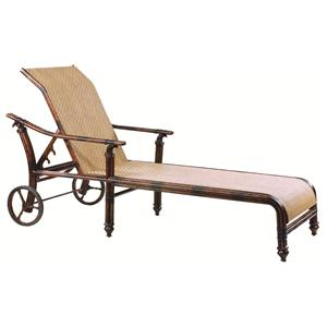 Castelle by Pride Family Brands Coco Isle Adjustable Sling Chaise Lounge w/ Wheels