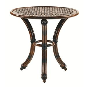 "Castelle by Pride Family Brands Coco Isle 24"" Round Occasional Table"