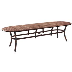 """Castelle by Pride Family Brands Coco Isle 48"""" x 108"""" Oval Dining Table (RTA)"""
