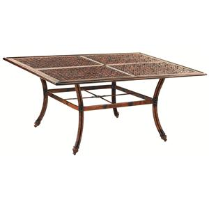 """Castelle by Pride Family Brands Coco Isle 64"""" Square Dining Table (RTA)"""