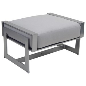 Castelle by Pride Family Brands Eclipse Cushioned Ottoman