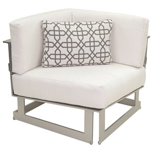 Castelle by Pride Family Brands Eclipse Sectional Square Corner Unit w/ One Pillow