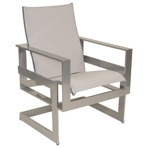 Castelle by Pride Family Brands Eclipse Sling Dining Chair