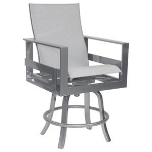 Castelle by Pride Family Brands Eclipse High Back Sling Swivel Counter Stool
