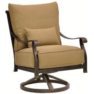 Castelle by Pride Family Brands Madrid High Back Cushioned Lounge Swivel Rocker