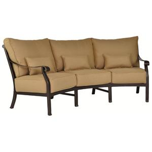 Castelle by Pride Family Brands Madrid Crescent Sofa