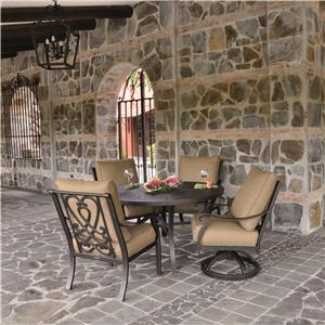 Castelle by Pride Family Brands Madrid Outdoor Table and Chair Set